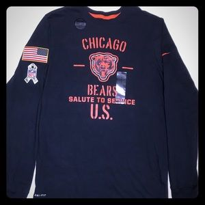Chicago Bears Nike Salute to Service Shirt Sz S